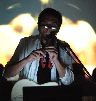 Myster Shadow-Sky performing at Audio Art Festival 2009